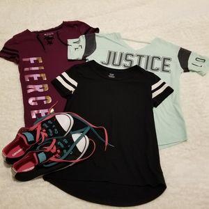 Girls bundle Justice ,old navy, Kohls tshirts
